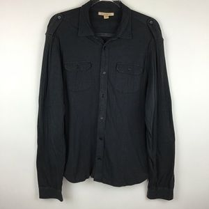 John Varvatos USA Black Pima Cotton l Men's Medium